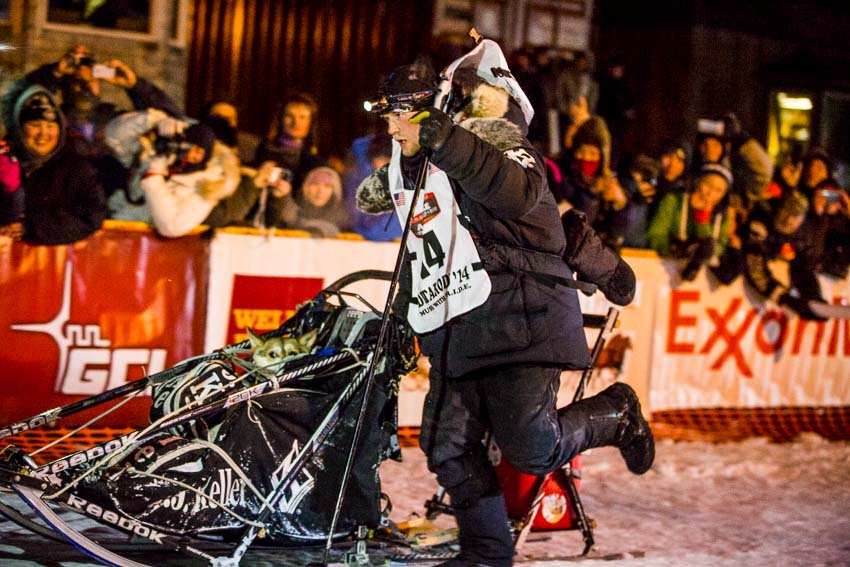 Dallas Seavey raced through a blizzard to win his second Iditarod championship. He didn't even know that he had won until after he passed under the burled arch. He thought that he was racing his father, 2013 winner Mitch Seavey, for third place. Mar 11, 2014